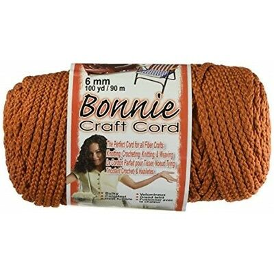 Pepperell Polyolefin Fiber Bonnie Macrame Craft Cord 6 Mmx 100 Yard-rust -