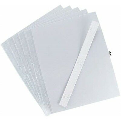 Pioneer 12 x 15-inch Post Bound Top-loading Page Protectors With White Inserts,