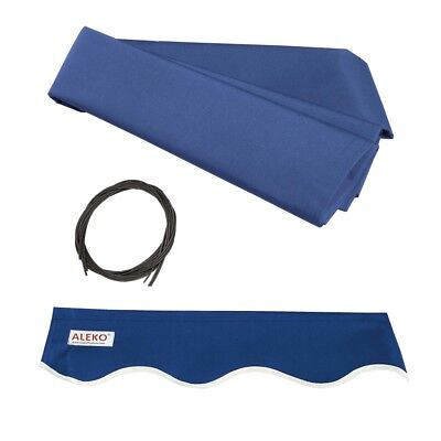 ALEKO Fabric Replacement For 12x10 Ft Retractable Awning Blue Color