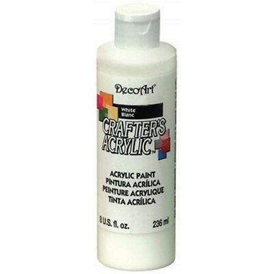 Crafter Acrylic Paint All Purpose 8 Oz White - Crafters Acrylics Decoart All
