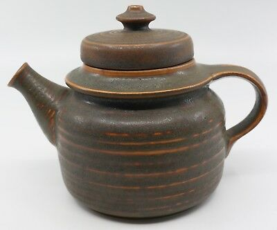 Vintage Retro Scandinavian Pottery. Arabia Finland Kaarna Small Teapot Brown.