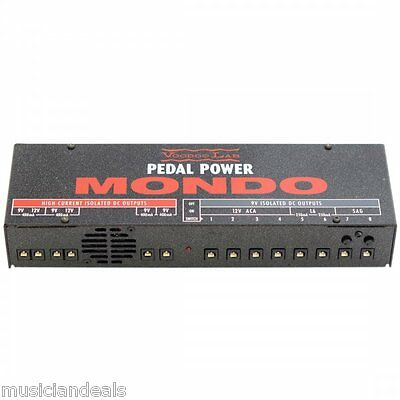 Voodoo Lab Pedal Power MONDO Guitar FX Effects Pedal Power Supply NEW