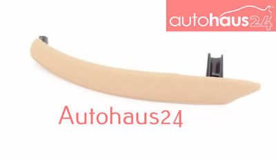 Bmw E70 X5 Left Inner Door Panel Handle Pull Trim Cover Leather  Biege Genuine