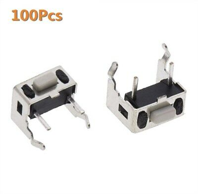 100Pcs Tact Switch Push Button 3*3*5mm Through Hole SPST-NO Right Angle