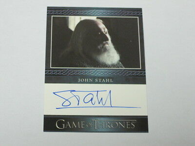 John Stahl Autographed Trading Card Game of Thrones