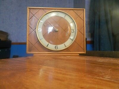 vintage SMITHS wooden mantle clock