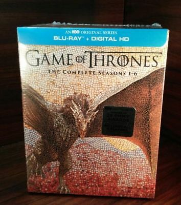 Game of Thrones:The Complete Seasons 1-6 (Blu-ray+Digital)NEW-Free same day S&H