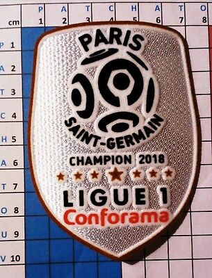 Patch badge France LFP Ligue 1 maillot de foot du Paris.SG Neymar Champion 18