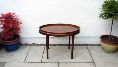Large Edwardian oval Mahogany  butlers  tray on  stand