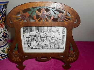 Charming French antique hand made standing photo frame