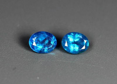 0.36 Cts_Wow !!! Amazing Top&top Color_100 % Natural Neon Blue Apatite_Brazil