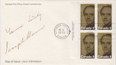 Canada #616 8¢ Joseph Howe Ll Plate Block First Day Cover