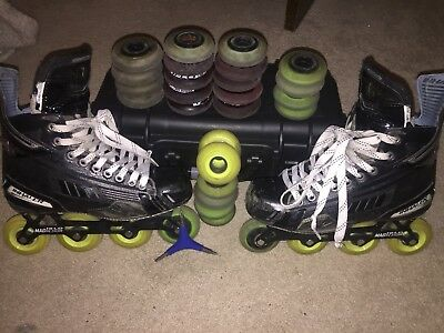 Mission DS1 Roller Hockey Skates. Size 7.5E, Extra Wheels