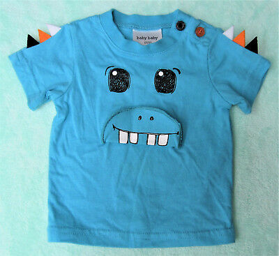 Baby Baby Boys Short Sleeved Monster T Shirt, Excellent Condition Size 0000