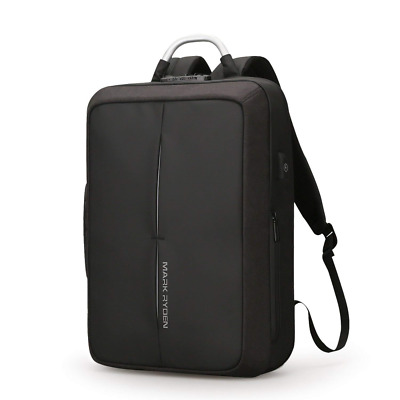 Waterproof Men Notebook Nylon Laptop Backpack USB Charge Large Computer Bag US