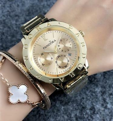 New Fashion Simple Stainless steel Quartz Round Bear Wristwatch PD Watch