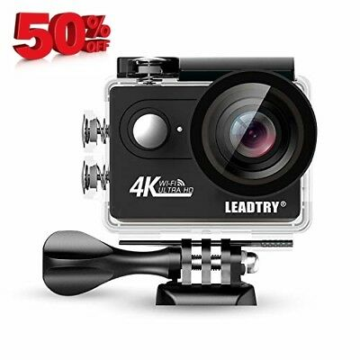 Full 4K HD Action Camera Wifi, Mini 12MP Underwater Photography Cam, 100Ft