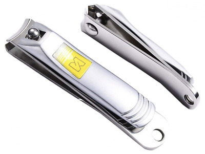 Nail Clippers, Fingernail and Toenail Clipper Cutter 2 Piece Stainless Steel NEW