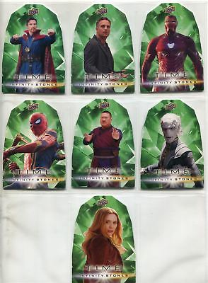 Avengers Infinity War Complete Die Cut Chase Card Set GT1-7