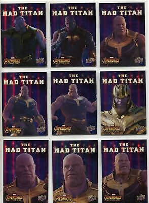 Avengers Infinity War Complete Mad Titan Chase Card Set MT1-10