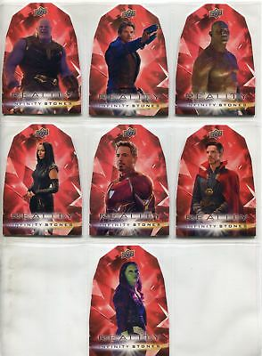 Avengers Infinity War Complete Die Cut Chase Card Set RR1-7