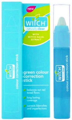 Witch Naturally Clear Hazel Green Colour Correction Stick Redness Acne Blemish