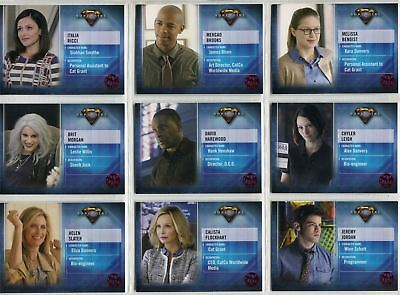 Supergirl Season 1 Complete Red Foil Character Chase Card Set CB1-9