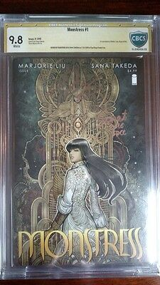 Monstress #1, 1st Print, CBCS SS 9.8 SIGNED x2 Liu & Takeda (Image Comics 2015)