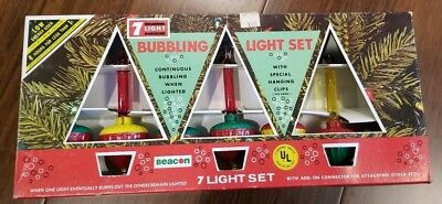 Beacon 7 Light Vintage Bubble Light Set without Cord for Replacement Bulbs