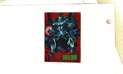 1993 Marvel Universe 4 Red Foil 2099 Insert Card # 1 DOOM GOOD TO VG Condition