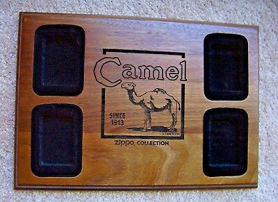 1996 Rjrtc - Camel Zippo Collection Display Case - (Holds 4 Lighters - Case Only