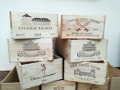 12 bottle Portuguese wooden wine box/crate.