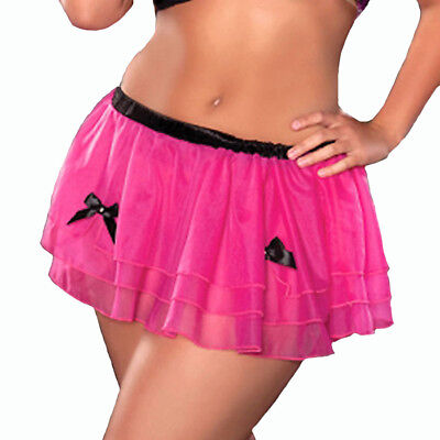 Hot Pink Rave Outfits Halloween Mesh Tulle Tutu Petticoat STM9276X One Size Plus
