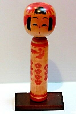 Hand Made Antique Rare Japanese wooden vintage doll KOKESHI  By HASEGAWA