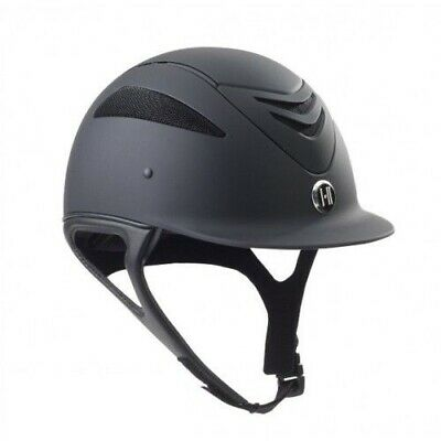 One K Defender Chrome Stripe Riding Helmet ABS Shell and Synthetic Suede Lining