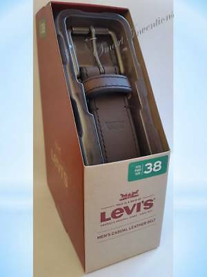 "New Mens LEVI'S Leather Belt, Gift for Him. Levis Sizes: 32"",34"",36"",38"",40''"