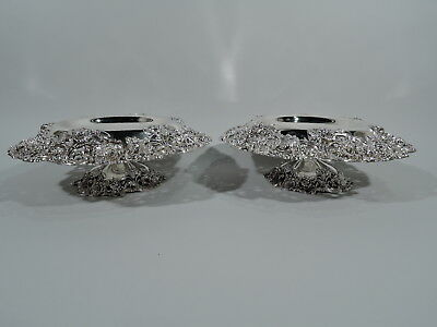Black Starr & Frost Compotes - 13/616 - Antique Pair - American Sterling Silver