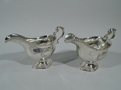Georgian Gravy Boats - Pair of Antique Sauce - English Sterling Silver - 1793