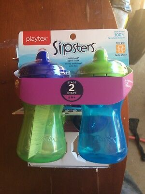 Playtex Sipsters Stage 2 Spill-Proof, Leak-Proof, Break-Proof Spout Sippy ..