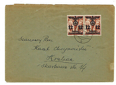 1940 Poland Germany GG cover to Krakow