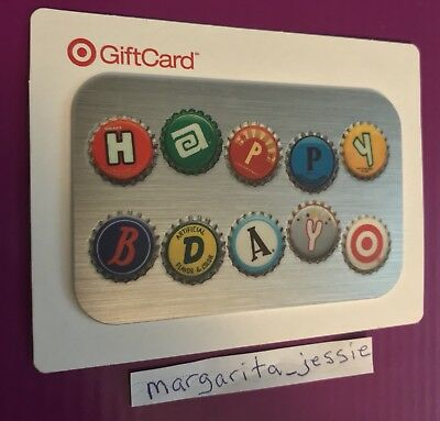Target Happy Birthday Soda Pop Bottle Caps Foil Gift Card 2008 No Value