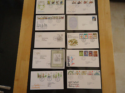 Gb First Day Cover Fdc Complete Years Most Minisheet Greetings Smilers 1971-2009