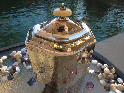 ANTIQUE SILVER sterling TEA CADDY SPICE BOX PORTUGAL HANDMADE RARE FORM OLD NM