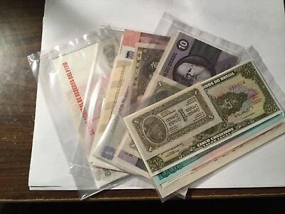 10 different NEW World Banknotes various countries photo representative