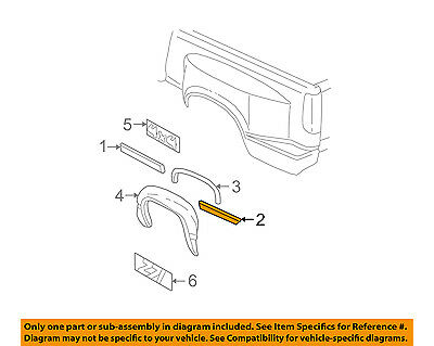 GM OEM Pick Up Box Bed-Body Side Molding Right 15740092