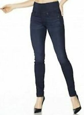 Spanx The Signature Skinny Jeans Rich Indigo Side Zip Stretch Jeans 26