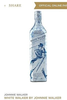 Johnny Walker White Walker Game of Thrones  Limited Edition Collectible In Hand