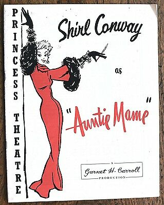 OLD PROGRAMME Princess Theatre Melbourne Shirl Conway as Aunty Mame  c.1959