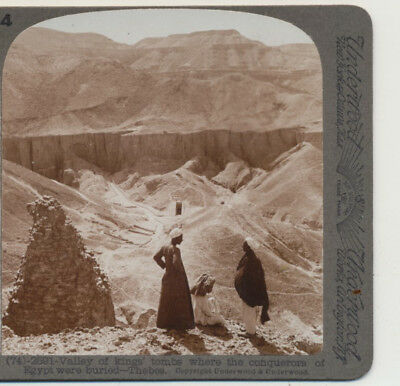 Valley of Kings Tombs Conquerors buried Thebes Egypt Underwood Stereoview c1900