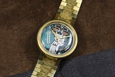 Vintage Bulova *SOLID* 18K GOLD Accutron Spaceview Watch - Rarest of the Rare